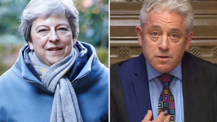 Theresa May warns Britain is in Brexit crisis as she vows to force her deal through next week despite blocker Bercow