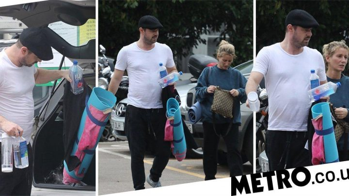 Danny Dyer prepares for total hydration ahead of couple's yoga with wife Joanne