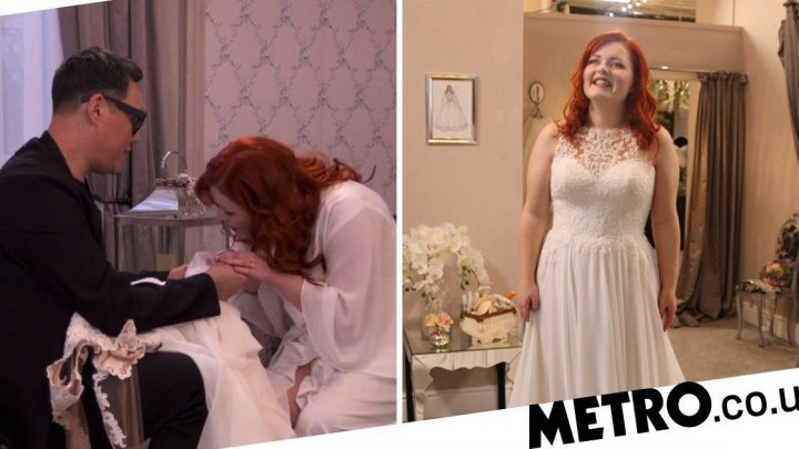 Blind Say Yes to the Dress bride gets sparkle back as she sees shimmer of gown