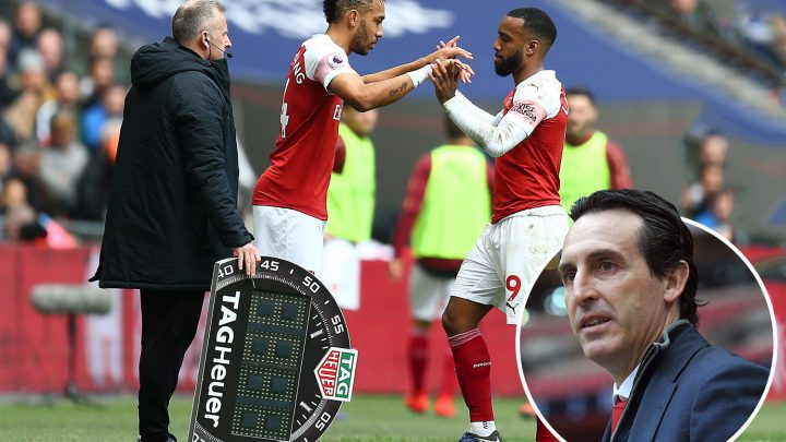 Stroppy Lacazette warned by Emery he must accept he can't always play with Aubameyang for Arsenal