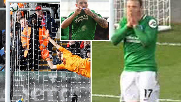 Glenn Murray stunned by Knockaert's screamer to send Brighton 2-1 up against Crystal Palace