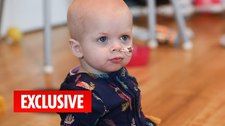 Liver transplant toddler battling cancer that came from the donated organ that saved her life