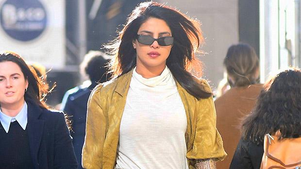 Priyanka Chopra's NYC Streetstyle: Snakeskin Pants, White Trench Coat, & More