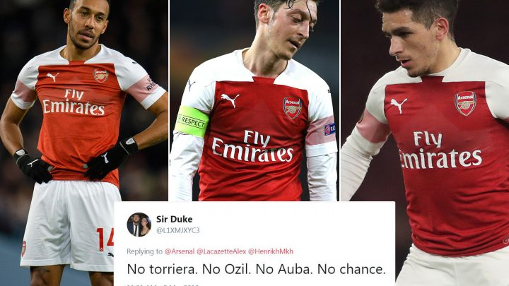 Arsenal fans fuming as Emery drops Aubameyang, Ozil and Torreira for Spurs clash