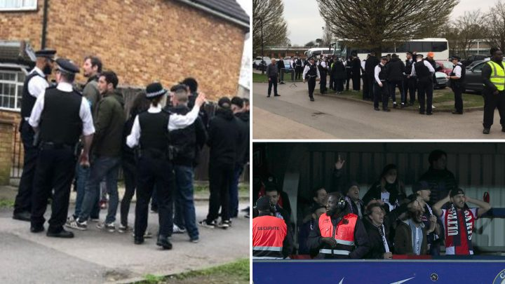 PSG Ultras thrown out of Chelsea Women's match after being caught with knives, knuckledusters and drugs