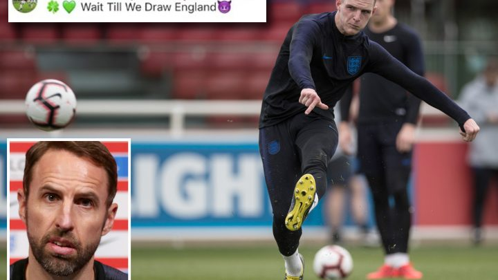 Southgate tells fans to go easy on Declan Rice after IRA post – and not to sing provocative songs