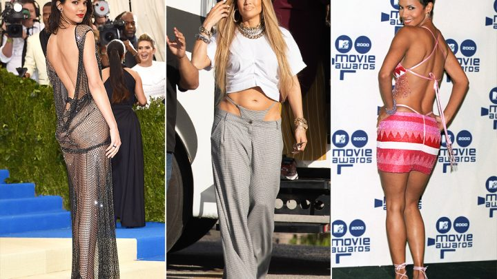 A Brief History of Celebrities Exposing Their Thongs in the Name of Fashion