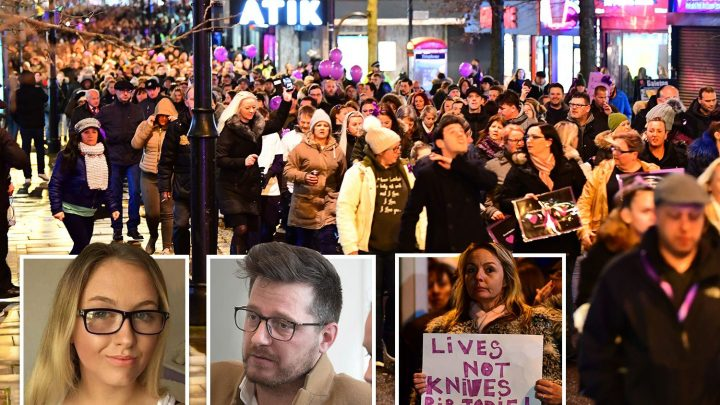 Jodie Chesney's dad tells 17-year-old's killer 'you've destroyed something beautiful' as hundreds march in memory of murdered schoolgirl