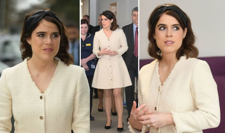 Princess Eugenie wears cream dress as she attends first royal engagement since wedding