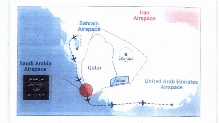 Qatar informs UN of more UAE, Bahrain airspace violations