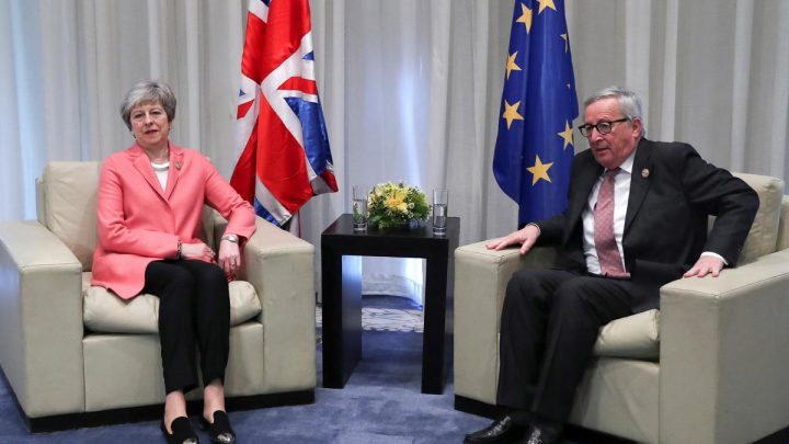 EU's Juncker, UK's May to meet in Strasbourg at 2000 GMT