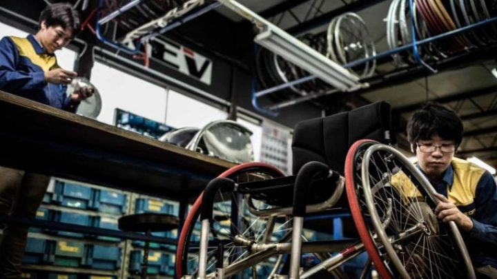 Paralympic fast track? Japanese firm develops hi-tech wheelchairs