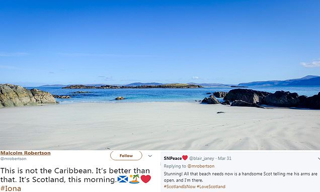 Twitter users stunned by snap of Scottish beach taken in March