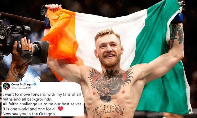 McGregor backs down on 'racist' comments and hints at return