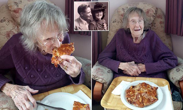 Great-grandmother, 94, finally tastes pizza for the first time