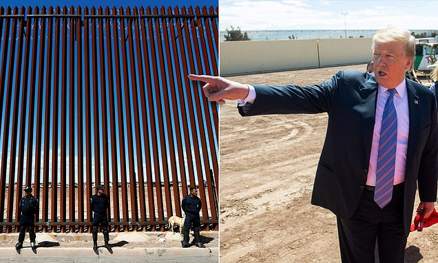 Trump unveils first section of new border wall: 'Our country is full'