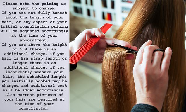 Hair stylist slammed for charging tall and long-haired clients extra