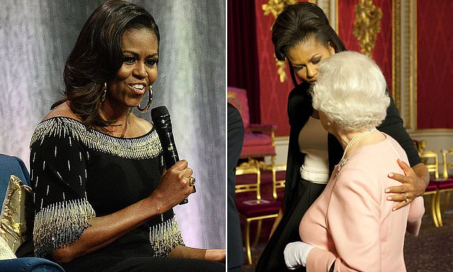 'Yikes! Sorry guys': Michelle Obama relives moment she hugged Queen