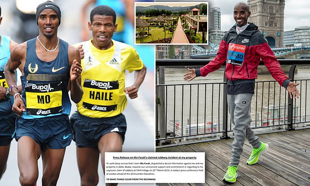 Sir Mo Farah is embroiled in bizarre row with Haile Gebrselassie
