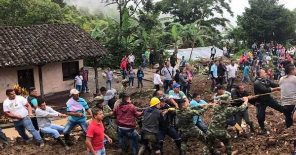 Columbia landslide kills at least 14 and injures five after heavy rain