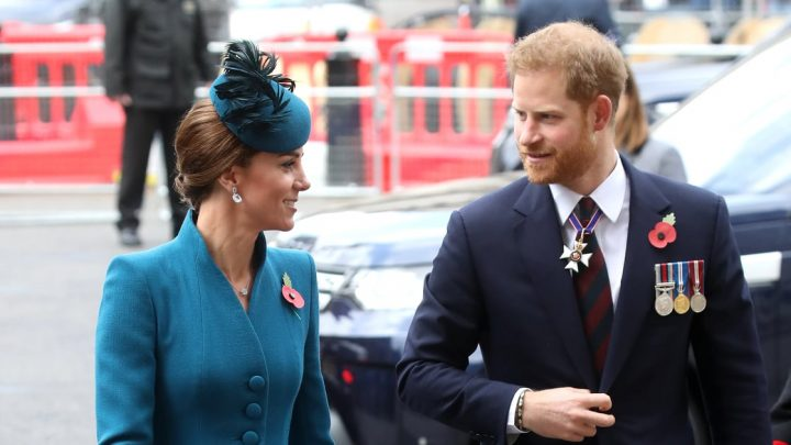 With Meghan's Due Date Imminent, Harry Is Joined by Kate For the Anzac Day Service