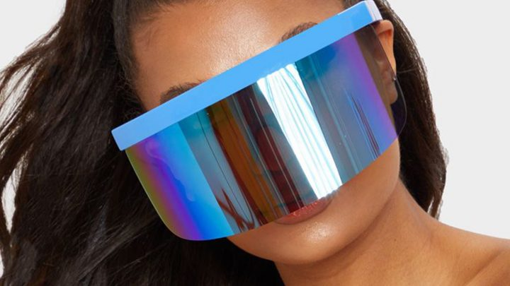 Shoppers in hysterics at PrettyLittleThing's enormous visor glasses that make you look like a robot