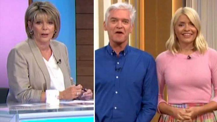 Ruth Langsford looks furious as Phillip Schofield cuts her off mid-sentence live on This Morning
