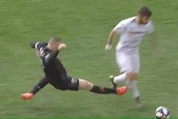 Rooney sent off via VAR after awful studs-up challenge for DC United