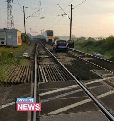 Driver causes severe train delays after abandoning his car on tracks in Essex