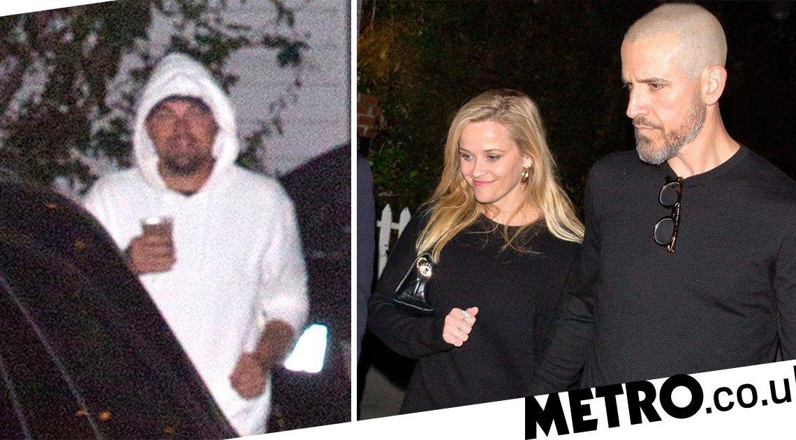 Reese Witherspoon and Leonardo DiCaprio arrive at Kate Hudson's 40th birthday