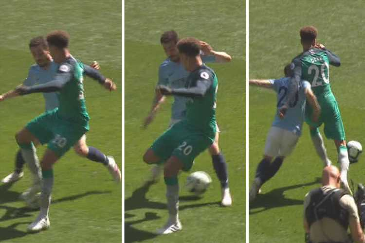 Dele Alli channels his inner Ronaldinho with outrageous nutmeg on Bernardo Silva in Man City's clash with Spurs