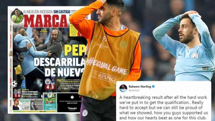 Guardiola hammered by Spanish press for 'wasting £800m' in pursuit of Champions League after Man City exit to Spurs while Sterling and Walker left 'heartbroken' by loss