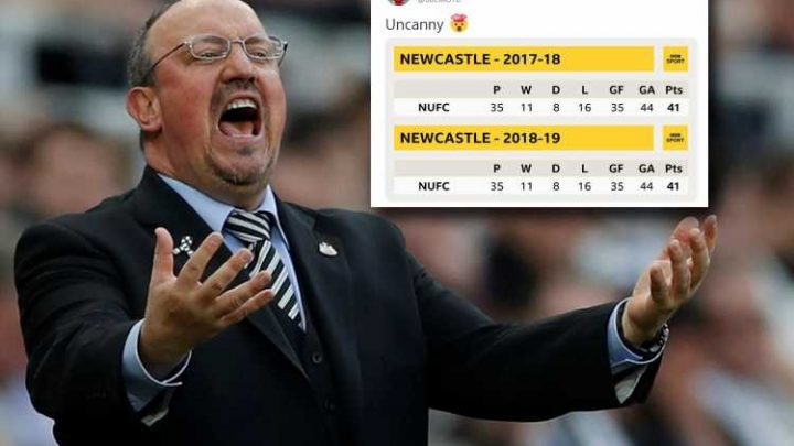 Newcastle in EXACT same position as last season after 35 Premier League games including goals for AND against
