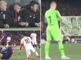 See the secret tactics note Solskjaer gave Rashford in Man Utd's defeat to Barcelona… that bored Ter Stegen picked up and read