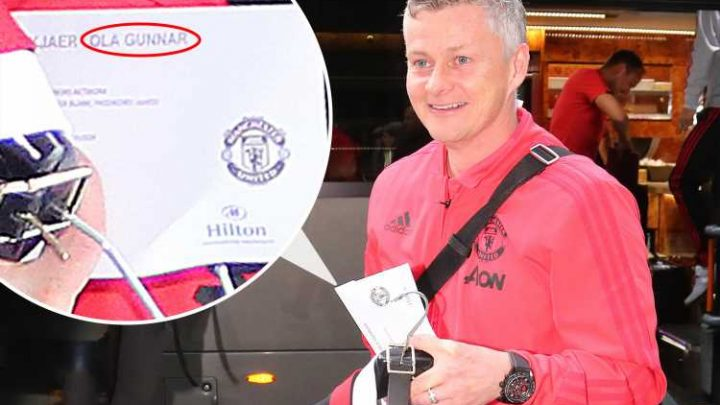 Man Utd change pre-match plans and stay at Hilton due to roadworks… but hotel spell Solskjaer's name wrong on room key