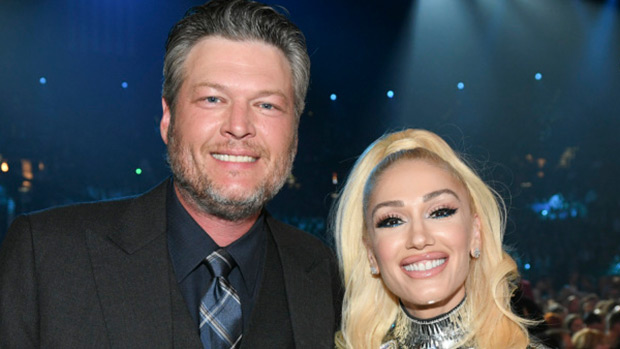 Gwen Stefani Wears Silver, Metallic Dress To ACM Awards With Blake Shelton