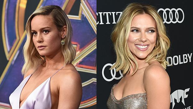 Brie Larson & Scarlett Johansson Rock Infinity Gauntlets To 'Avengers' Premiere & Fans Are Obsessed