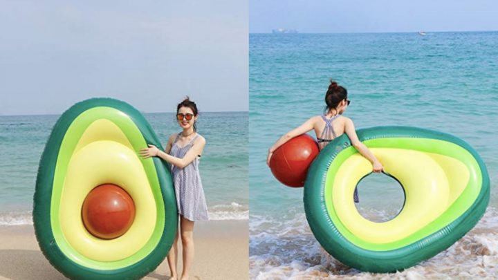This Avocado Pool Float Comes With A Removable Beach Ball Pit