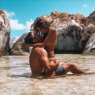 Masters runner-up Brooks Koepka snogs stunning naked girlfriend Jena Sims on beach in saucy holiday snap