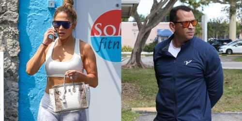 Jennifer Lopez & Alex Rodriguez Take the Kids to a Dog Adoption Center in Miami!
