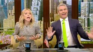 Kelly Ripa Accidentally Grabs Andy Cohen's Crotch On 'Live' & Their Reaction Is Priceless