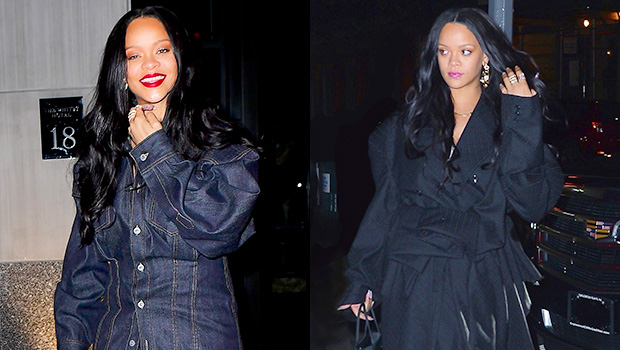 Rihanna's Baggy Date-Night Dress VS. Double Denim Look — Vote For Your Fave