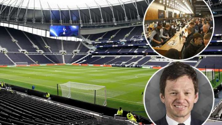 Spurs are eating at the top table because they make £800k per match in their restaurants alone