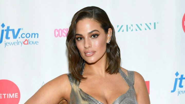 Ashley Graham shows off beach body in 'itty bitty' bikini while eating Cheetos in the Dominican Republic