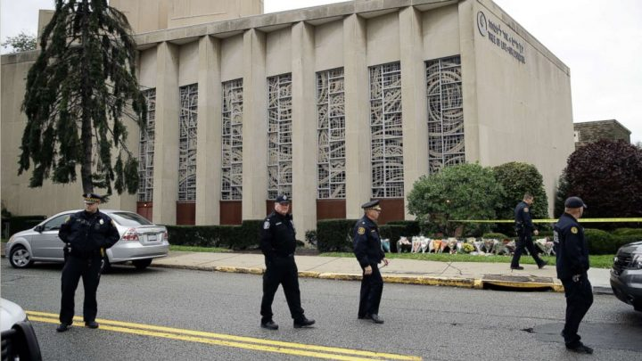 Pittsburgh synagogue shooting survivor returns to site to 'remove the ghosts' haunting him