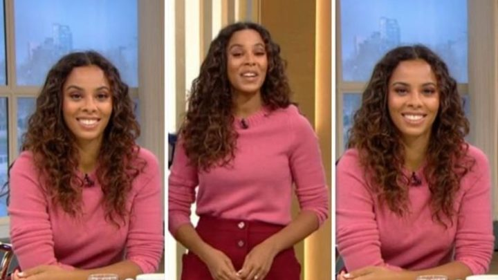 Rochelle Humes is pretty in pink in tonal ensemble for ITV's This Morning