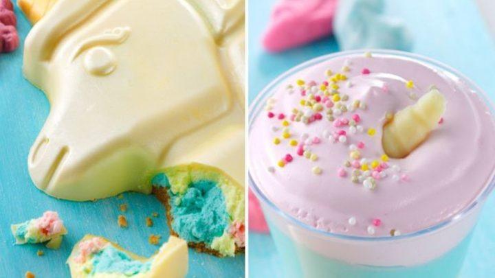 Asda launch DREAMY unicorn desserts including layered sundaes and a colourful smash cake