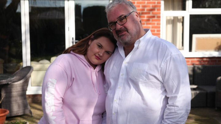 Girl, 14, who weighs 22st blames parents for her weight but dad has other theory