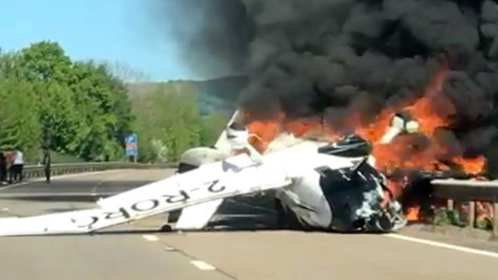 Plane crash heroes who rescued three people from burning wreckage revealed