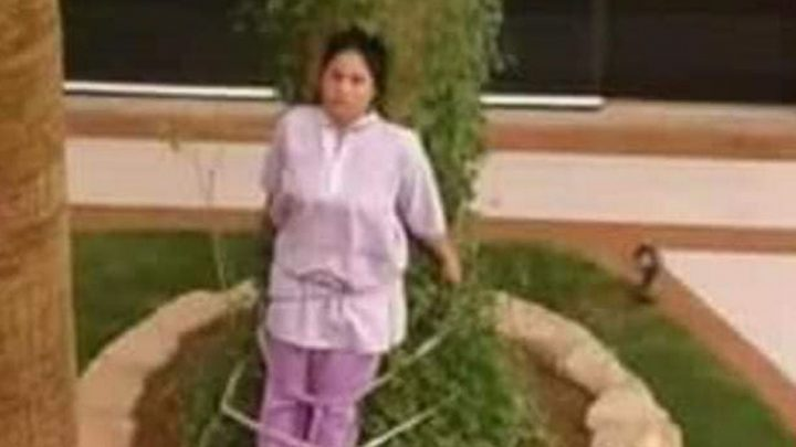 Maid, 26, tied to tree as punishment for leaving furniture outside in the sun